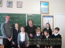 Зустріч учнів 10-х класів гімназії ''Діалог'' з Робертом Хартіганом